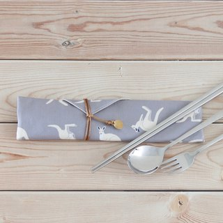 Kangaroo cutlery combination cutlery storage bag with cutlery