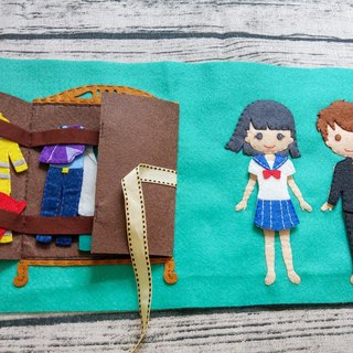 Custom hand-made cloth single-page book [this] [D08] kids picnic