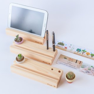[Small green iPad seat] wood computer desk pen insert / does not contain fat Father's Day gift storage