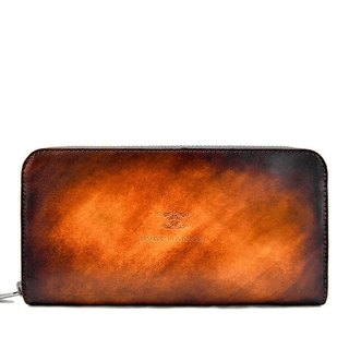 ACROMO Light Brown Zip Around Wallet