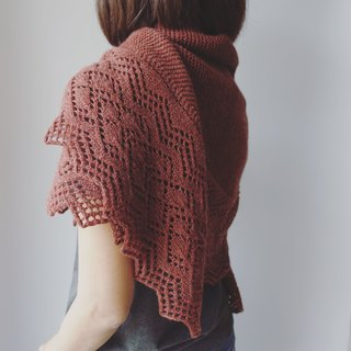Acorn long shawl knit map and knitting instructions without wire and tools
