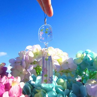 Ziyang flower wind chime acrylic charm