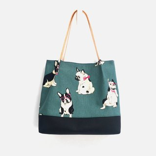 Cute dog tote bag/shoulder bag/handbag handmade canvas lovely adorable