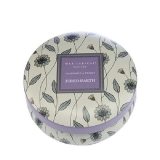 British Candle FIRED EARTH Series Chamomile & Violet Tin Candle