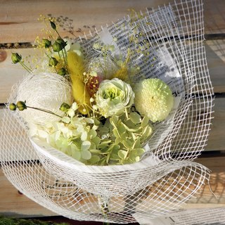 "Midsummer Cool Series ""Lemon Snow Cheese"" Style Flower Bouquet │ Tanabata │ Valentine's Day │ Father's Day │ Flower Bouquet │ No Flower │ Dry Flower │ Gift │ Anniversary │"