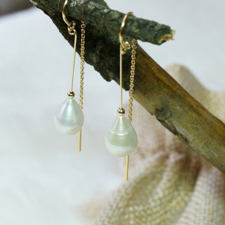 US 1/20 14K Gold Filled, Tear Drop-shaped Pearl Earrings ( pr count )