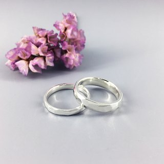 純銀戒指-切面稜紋戒 Cut Surface Ring / 925 Sterling Silver