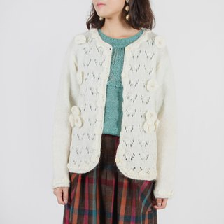 [Egg Plant Vintage] Snow Country Stream Knit Cardigan Sweater Jacket