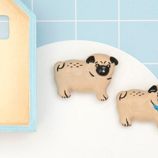 Childhoood Walking Pug Brooch