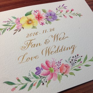 Exclusive Order - custom hand-painted watercolor handmade cards (for Yilin Tsai)