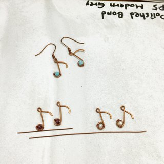 Three-note note jumping earrings