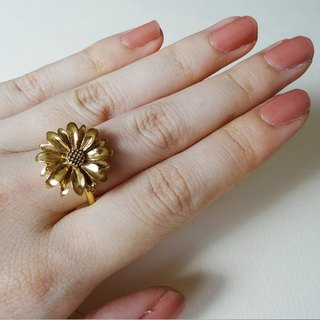 Daisy ring gold K18GF Harajuku kawaii Girly