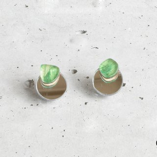 koishi plate earrings / GREEN