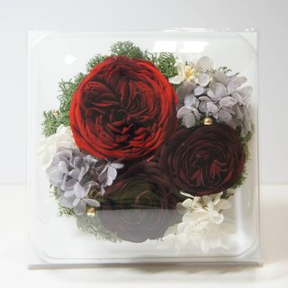 Red and black flower withered classical rose flower square photo frame flower ceremony