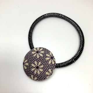 Walnut button kimono hair accessory purple