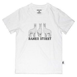 British Fashion Brand [Baker Street] Triplets Alpaca Printed T-shirt For Kids