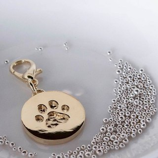 Q cake series 18K gold - pet hand tag - foot