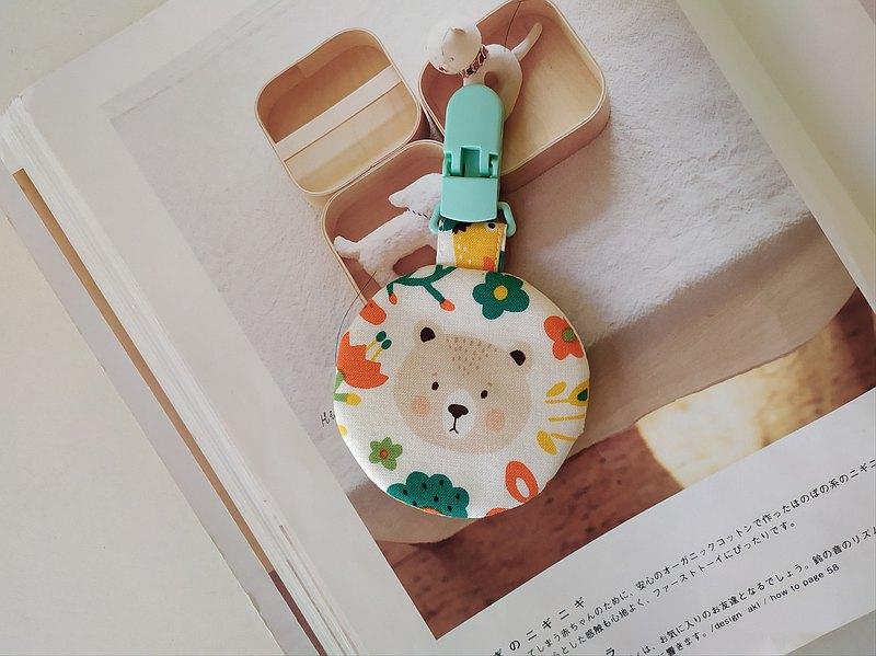 小熊 平安符袋 彌月禮物 平安符袋 香火袋  圓型平安符袋