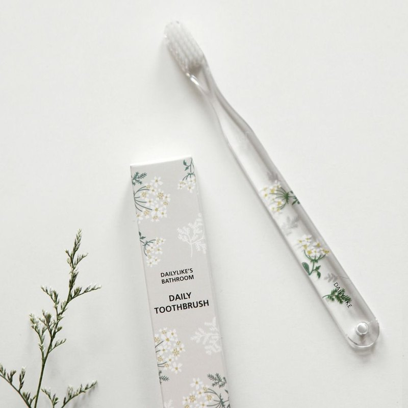 Dailylike crystal clear toothbrush -06 lace flower, E2D46879