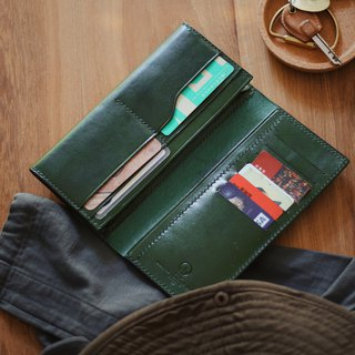 HUANGS 艸一田人-European imported vegetable tanned leather handmade long clips, wallets