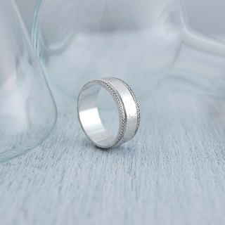 European retro series - Ripples - Wide version of the original color (silver ring)