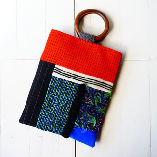 Tweed patchwork BAG
