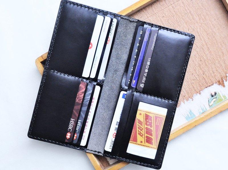 10咭位相片長夾 好好縫 皮革材料包 免費刻字 意大利植鞣 長銀包