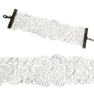 PINKOI limited bag - white flower embroidery bracelet