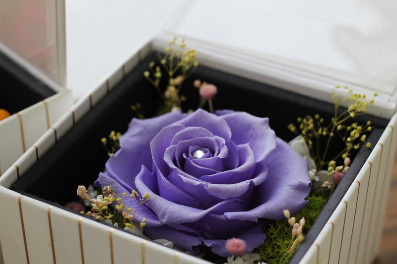 Flower design (not withered flower series) Ecuador eternal life rose gift box