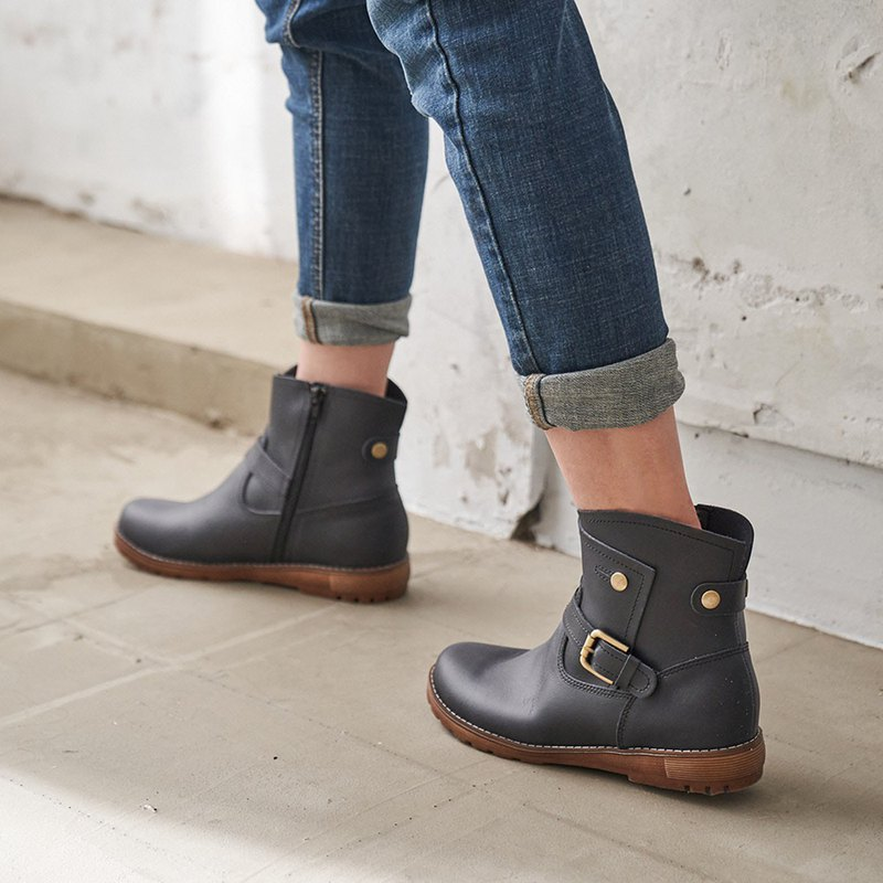 Waterproof Shoes-Looking for Wally Rain Boots-Dark Black