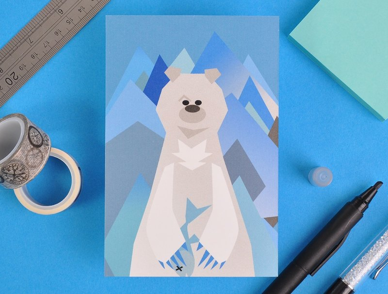 Mr. Bear Collection Postcard - Polar Bear