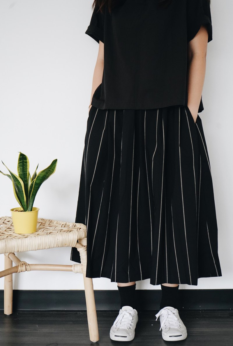 Striped discount skirt