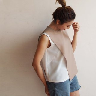 Urban Breeze - Asymmetrical Color Tank Tops/Bare Apricot