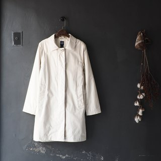 Gap Aomori ivory white plain classic antique thin windbreaker jacket trench_coat dustcoat
