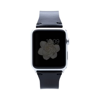 SLG Design Apple Watch 1/2/3 42mm D7 IBL Top Leather Strap - Black