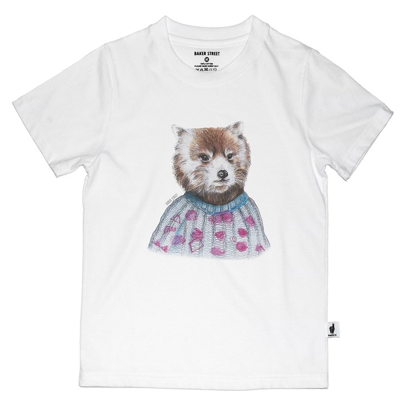 British Fashion Brand -Baker Street- Coon Printed T-shirt for Kids