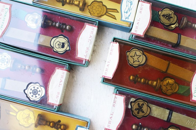 ❄ Classic Sealing Wax Stamp Set w/a wax 【Limited Edition】