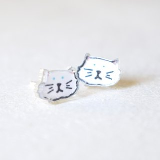 Cat Studs - Persian Earrings - Little Earrings - Cute Earrings