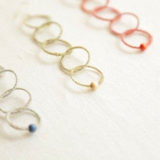 Ripple one ear hoop earrings 5 ​​strands Earrings changeable wool handmade accessories gift party also
