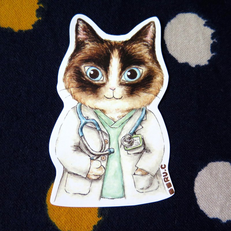 My volunteer: cat doctor stickers