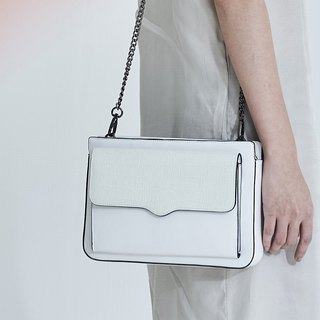 Fallen box side box type envelope bag white