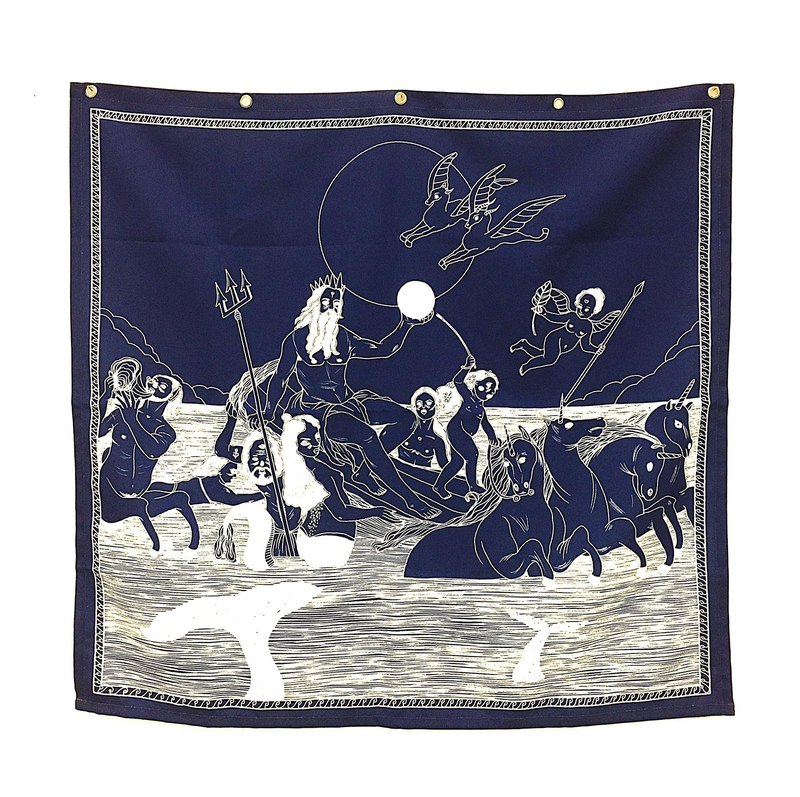 Greek mythology theme Poseidon tarpaulin / Tarot