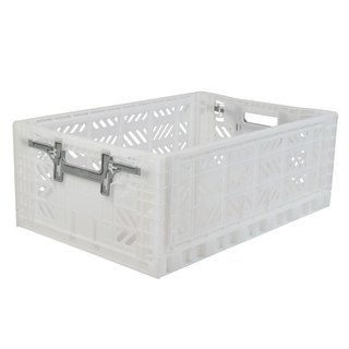 Turkey Aykasa Folding Storage Basket (L) - Crystal White