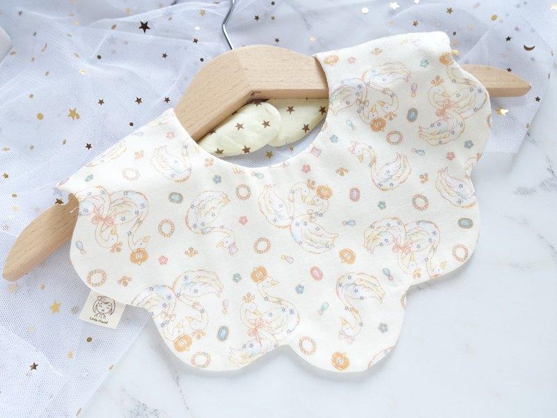 嬰兒波浪形 圍兜口水巾口水肩 - 小天鵝