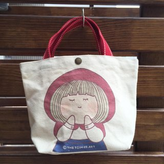 Little Red Riding Hood illustration canvas bag - D0005