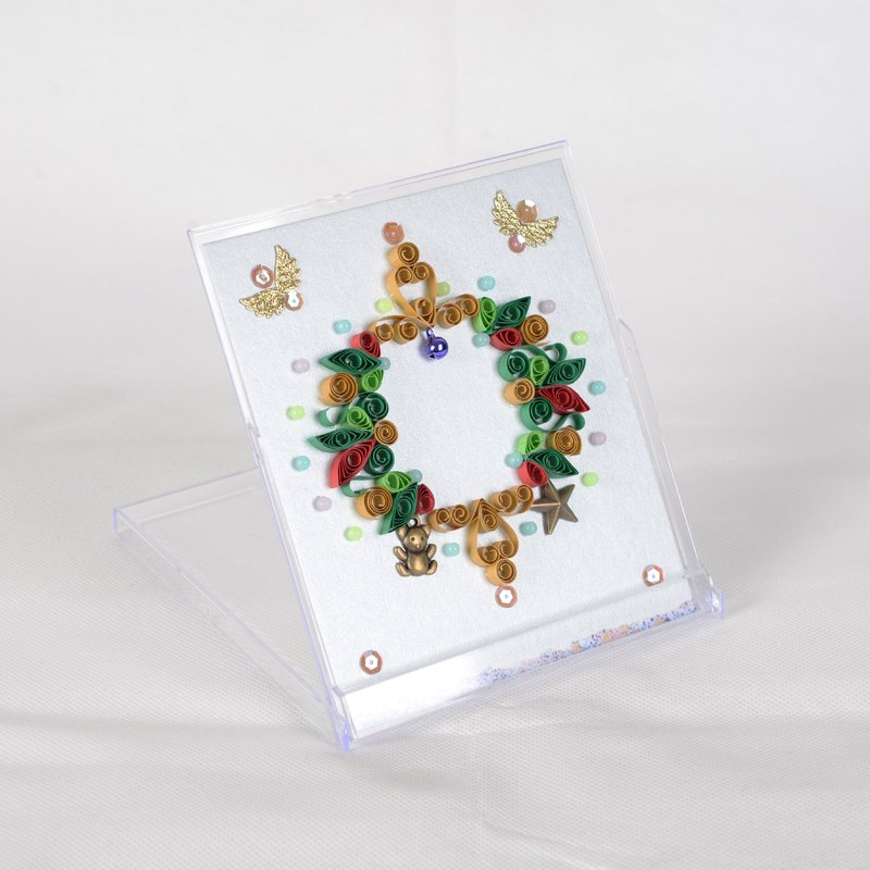 Christmas series 2 desk calendar box display paper roll finished