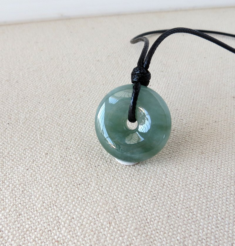 [Peace, wishful] floating flower safe buckle jade Korea wax line necklace*DG1*evil spirits, anti-little