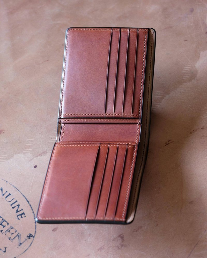 Mildy Hands - SWC - Short clip wallet Horween shell cordovan Horse buttocks