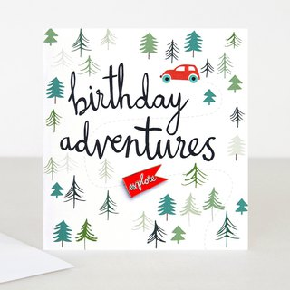 【caroline gardner】Explore Pin Badge Birthday Adventures Card BOH006