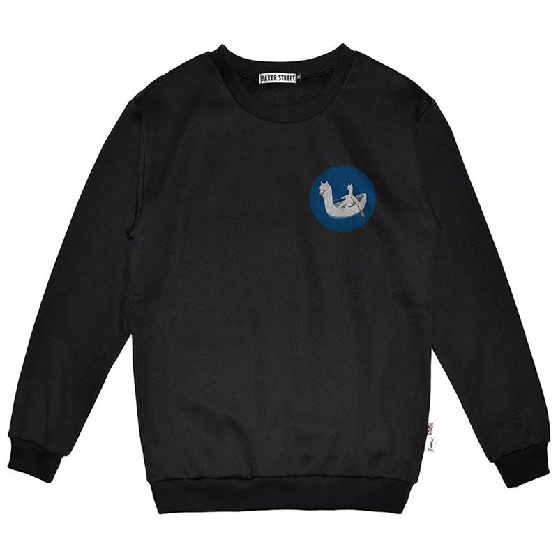 British Fashion Brand -Baker Street- Little Stamp:Boating Alpaca Sweatshirt